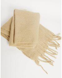 ASOS Бежевый Фактурный Шарф-одеяло - Естественный