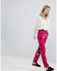 Vila | Floral Printed Pants | Lyst