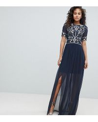 Frock and Frill - Embellished Top Maxi Dress - Lyst