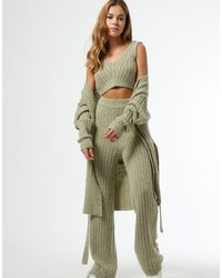 Miss Selfridge Knitted Trousers - Green