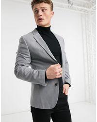 ASOS - Серый Приталенный Пиджак - Lyst