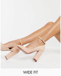 ASOS Wide Fit Placid High Block Heels - Multicolour