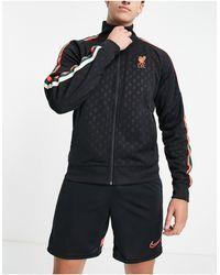 Nike Football Liverpool Fc Monogram Track Jacket - Black