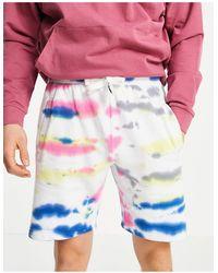 Threadbare Shorts con efecto tie dye multicolor