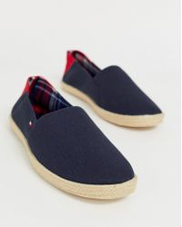 92281e484e368a Tommy Hilfiger - Espadrille With Contrast Panel And Flag In Navy - Lyst