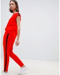 Ichi Combinaison sport rayures - Rouge