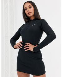 Nike Black Long Sleeve Mini Dress