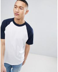 Mango - Man Raglan T-shirt In Navy - Lyst