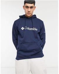 Columbia Худи Темно-синего Цвета С Логотипом -темно-синий