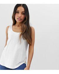 ASOS ASOS DESIGN Petite – Ultimate – es Trägershirt - Weiß