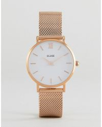 Cluse - Cl30013 Minuit Mesh Watch In Rose Gold - Lyst