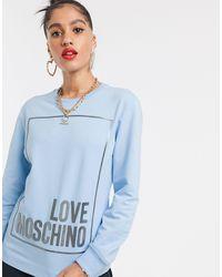 Love Moschino - Свитшот С Логотипом -синий - Lyst