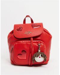 Love Moschino Красный Рюкзак С Карманом
