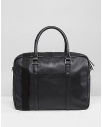 ASOS - Leather Satchel In Black With Emboss - Lyst