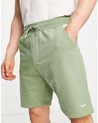 Threadbare Shorts color salvia con diseño - Verde