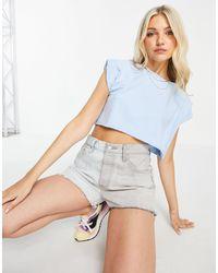 Chelsea Peers T-shirt confort à épaules oversize - pâle - Bleu