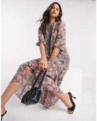 Vero Moda Платье Миди С Цветочным Принтом Пейсли -многоцветный
