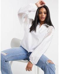 adidas Originals Fakten - Veste à enfiler en tulle - Blanc