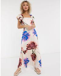 Liquorish Свободное Платье Макси С Квадратным Вырезом И Цветочным Принтом -мульти - Многоцветный