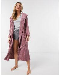 Brave Soul Pink Fleece Dressing Gown