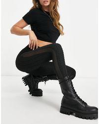 Missguided Textured legging - Black