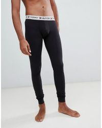 Tommy Hilfiger - Authentic Long Johns With Contrast Logo Waistband In Black - Lyst