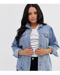 Simply Be Oversized Denim Jacket In Blue
