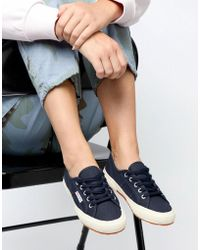 Superga - Cotu Classic 2750 Navy Canvas Sneakers - Lyst