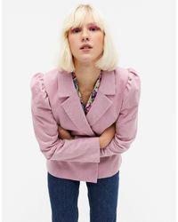 Monki Розовый Приталенный Блейзер С Объемными Плечами Mary-розовый Цвет