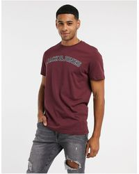 Jack & Jones Originals - T-shirt con logo sul petto - Rosso