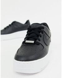 size 40 2f953 ae743 Air Force 1 Sage Low Trainers In Black