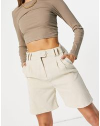 4th & Reckless Cord City Short - White