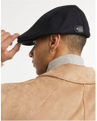 Ted Baker Wool Flat Cap - Blue