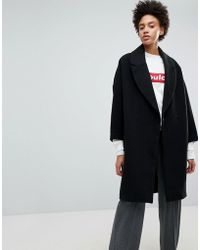 Stradivarius - Black Longline Smart Coat - Lyst