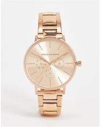 Armani Exchange Часы Цвета Розового Золота Ax5552-золотой - Металлик