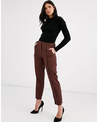 Y.A.S Pantalones tapered a rayas - Multicolor