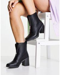 Miss Selfridge Botas negras con cremallera - Negro