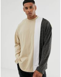ASOS Oversized Long Sleeve T-shirt - Natural