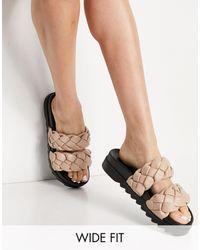 Raid Wide Fit - Flinch Chunky Plaited Sandals - Lyst