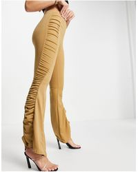 Fashionkilla Gathered Flared Trousers Co Ord - Black