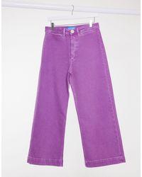 M.i.h Jeans M.i.h. Caron High Waist Wide Leg Jeans - Purple