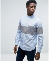 French Connection - Shirt In Slim Fit With All Over Paisley Print - Lyst