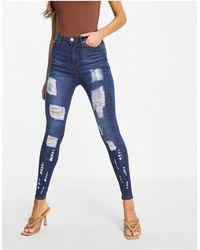 Naanaa Distressed Rip Jeans - Blue