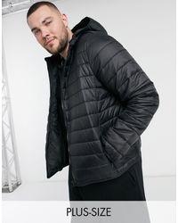 New Look - PLUS - Piumino nero con cappuccio - Lyst