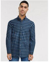 Jack & Jones Рубашка С Длинными Рукавами -синий
