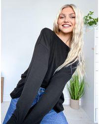 AllSaints Rita - T-shirt manches longues - Noir