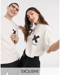 Collusion – Unisex – T-Shirt mit Logo - Weiß