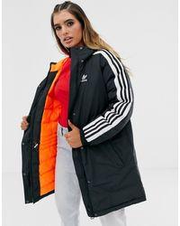 adidas Originals Three Stripe Parka - Black