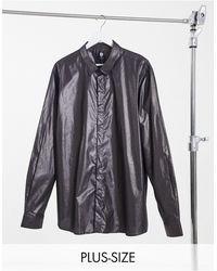 Twisted Tailor Plus Skinny Glitter Shirt - Metallic
