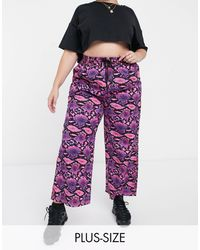 Collusion - Plus Wide Leg Trousers - Lyst